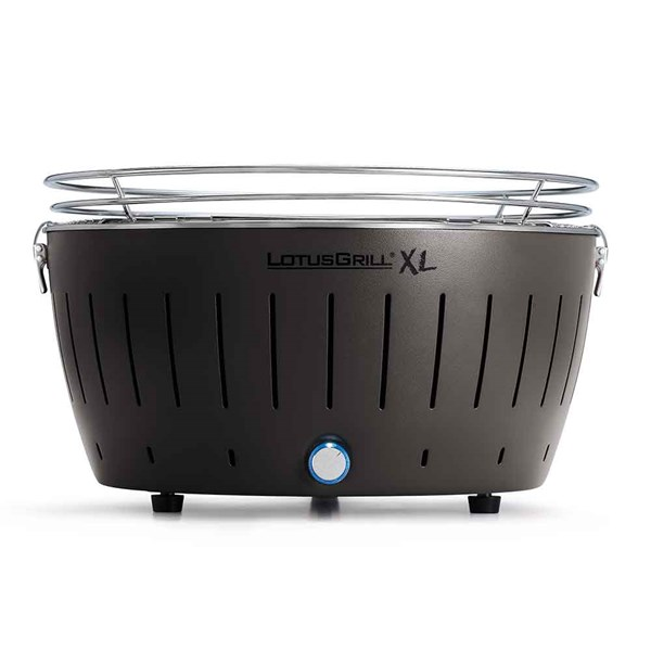 Lotus Grill XL BBQ in Grey with Free Lighter Gel and Charcoal