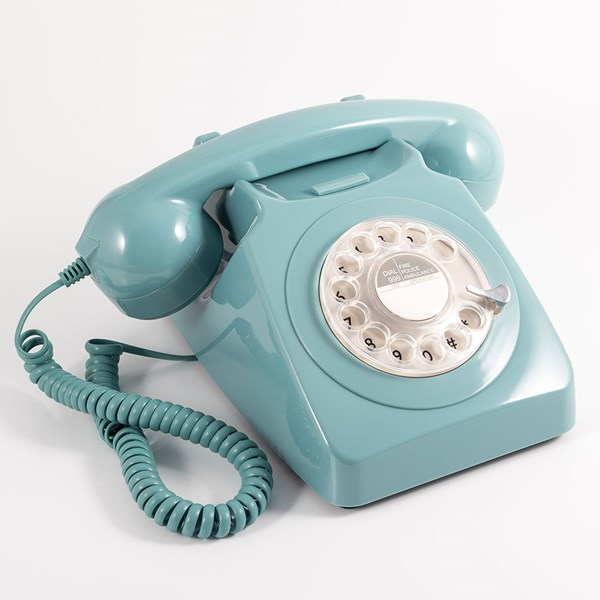 GPO Retro Telephone in French Blue