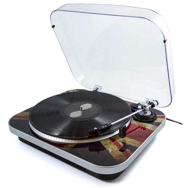 Jam Union Jack Retro Record Player
