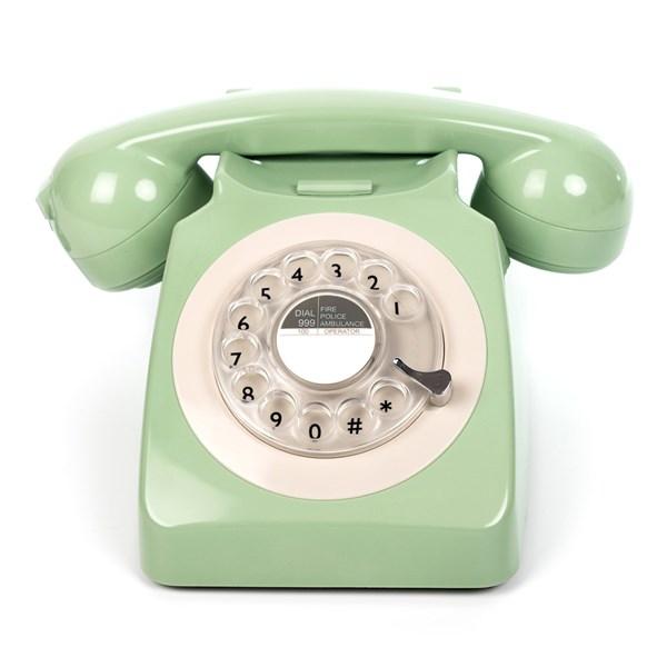 Stylish Retro Telephone in Mint