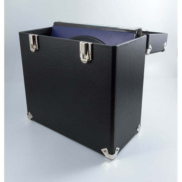GPO Vinyl Record Storage Case in Black