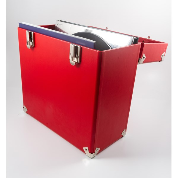 GPO Vinyl Record Storage Case in Red