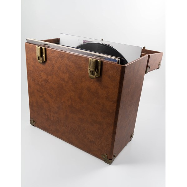 GPO Vinyl Record Storage Case in Brown