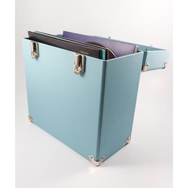 GPO Vinyl Record Storage Case in Blue