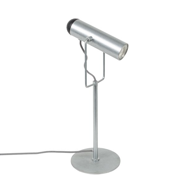 Zuiver Marlon Table Lamp in Galvanised Iron