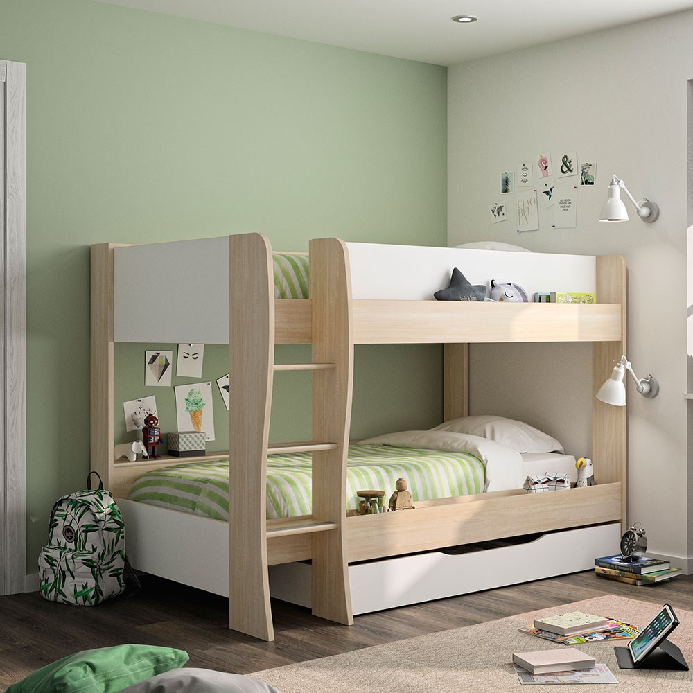 Gami Roomy Bunk Bed With Storage Drawer Kids Avenue Cuckooland