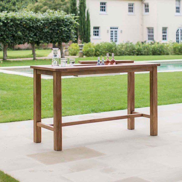 St Mawes Bar Table in Reclaimed Teak with Drinks Cooler
