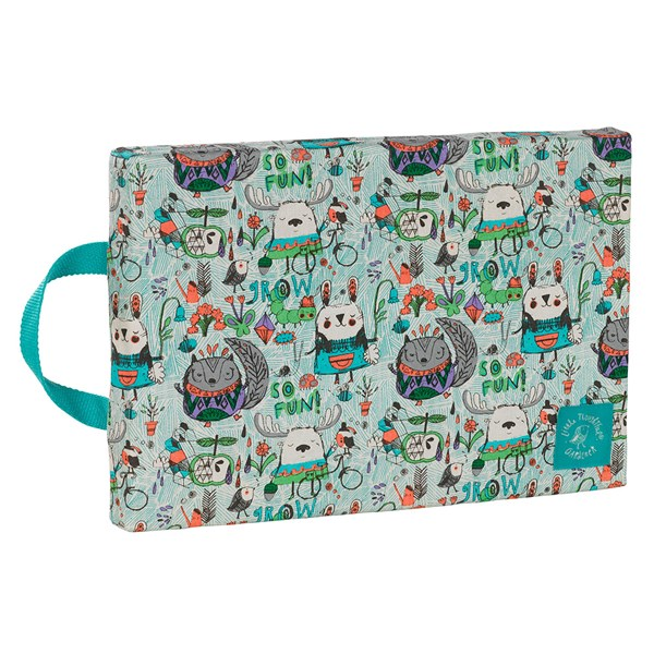 Kids Garden Kneeler in Woodland Print