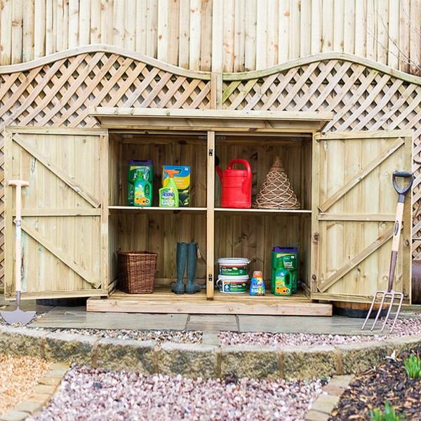 Deluxe Treated Outdoor Wooden Garden Storage