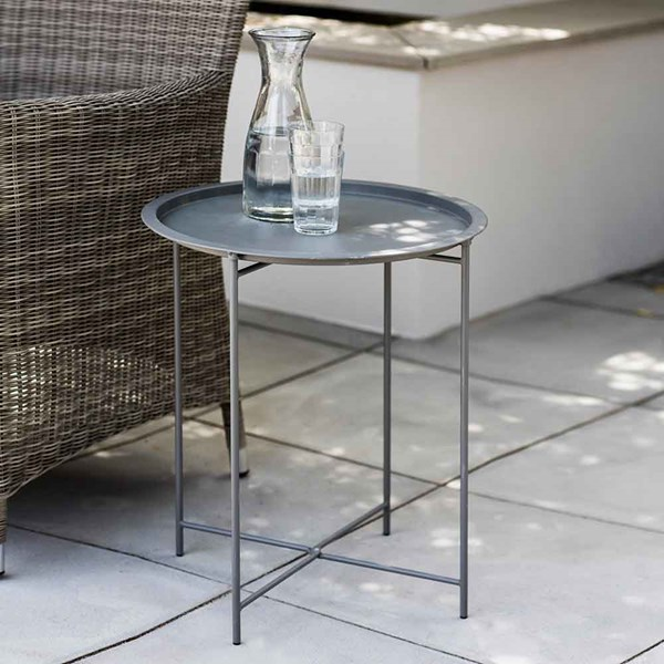 Garden Trading Rive Droite Bistro Side Table in Charcoal