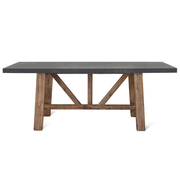 Acacia Wood and Cement Fibre Garden Table