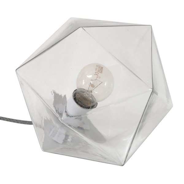 Geometric Table Lamp in Glass