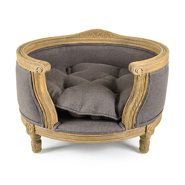 The George Luxury Designer Pet Bed in Charcoal Brown