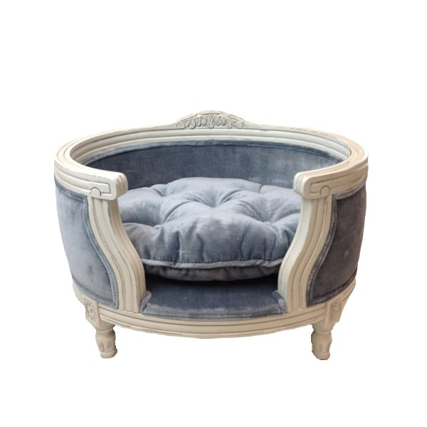 Luxury Designer Dog Bed in Pile Grey