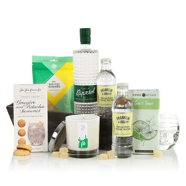 Virginia Hayward Gin Themed Christmas Gift Box Hamper