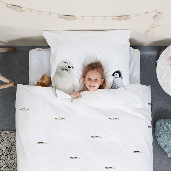 Snurk Childrens Arctic Friends Duvet Bedding Set