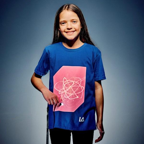 Kids Super Peach Glow T-Shirt in Royal Blue
