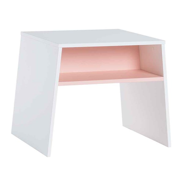 Vox Tuli Kids Stackable Desk in White and Pink