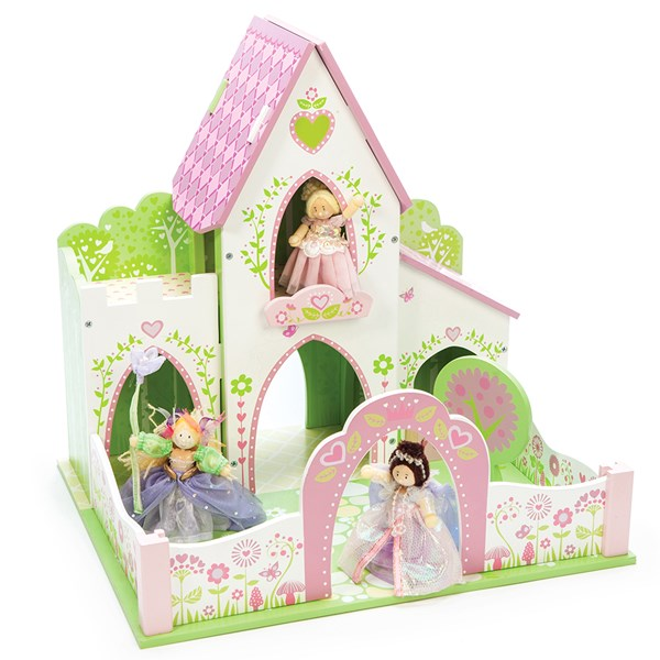 Pink Illustrated Fairy Princess Castle