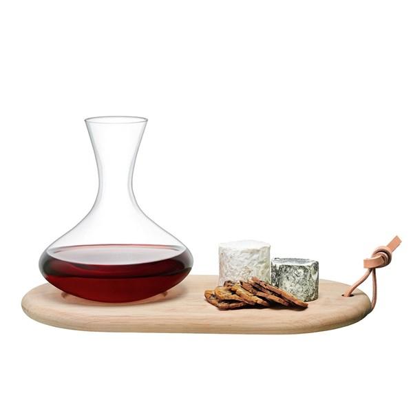 LSA Wine Carafe & Oak Cheese Board Set