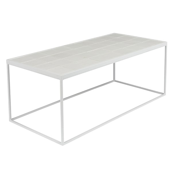 Zuiver Glazed Coffee Table in White