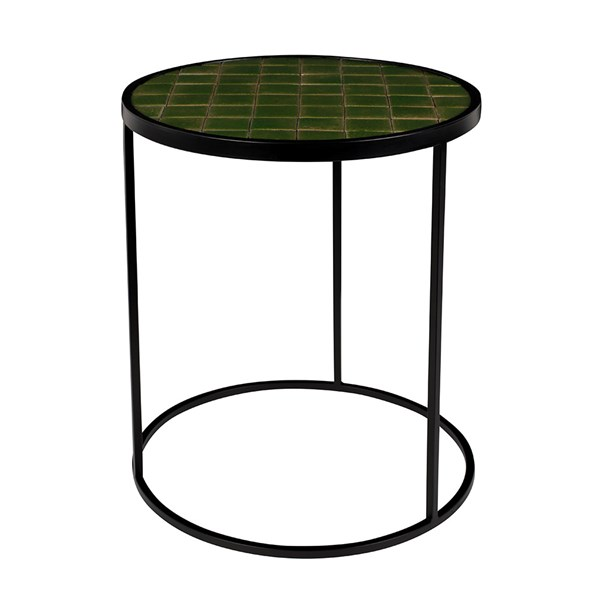 Zuiver Glazed Side Table in Green