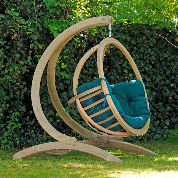 Globo Hanging Chair and Stand in Green
