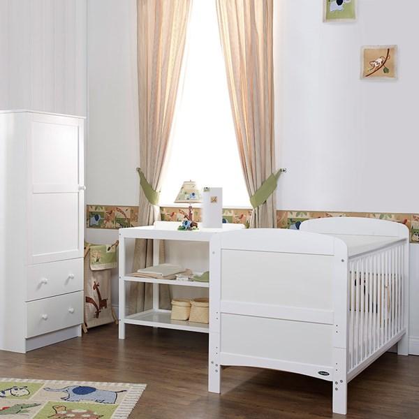 Obaby Grace Cot Bed 3 Piece Nursery Furniture Set