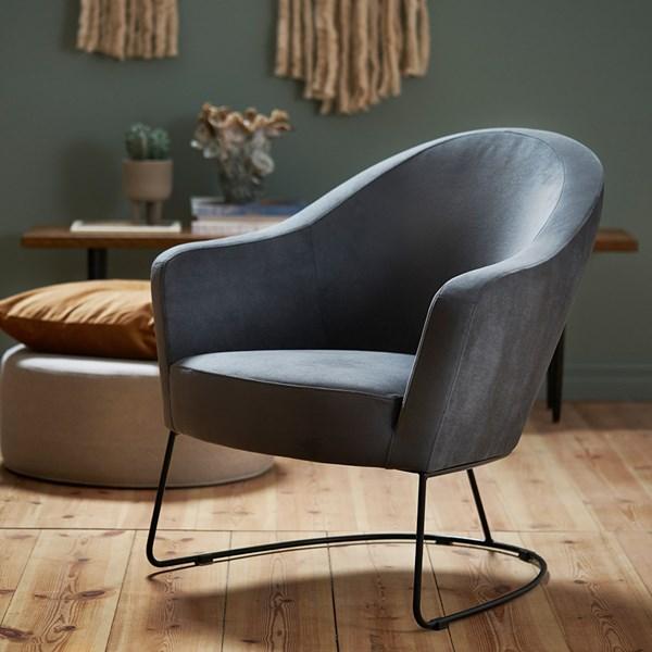 Lovi Furniture Grape Velvet Armchair