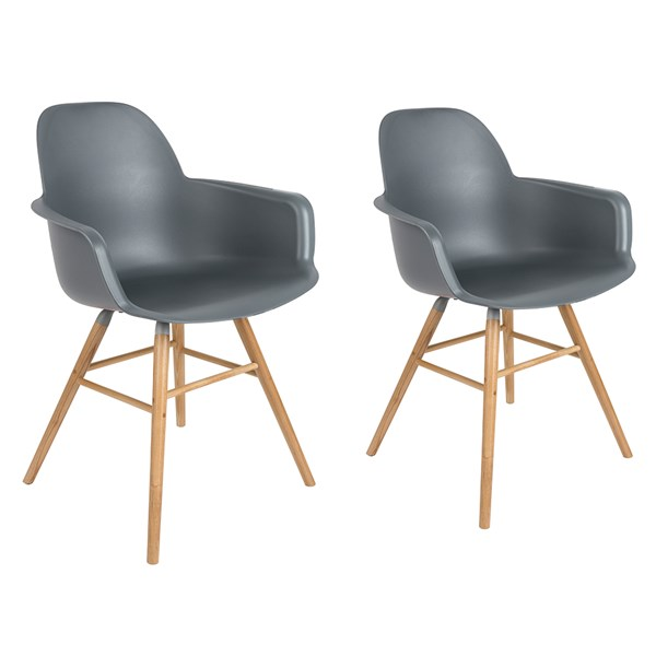 A Pair of Albert Kuip Retro Moulded Armchairs in Dark Grey
