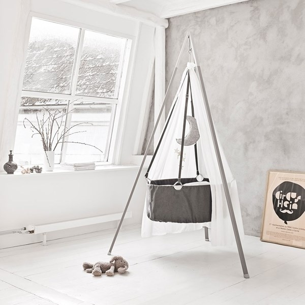 Babies Swinging Crib in Grey from Leander