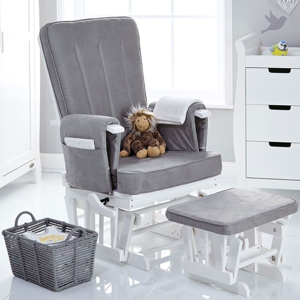 Obaby Deluxe Reclining Nursing Chair and Stool