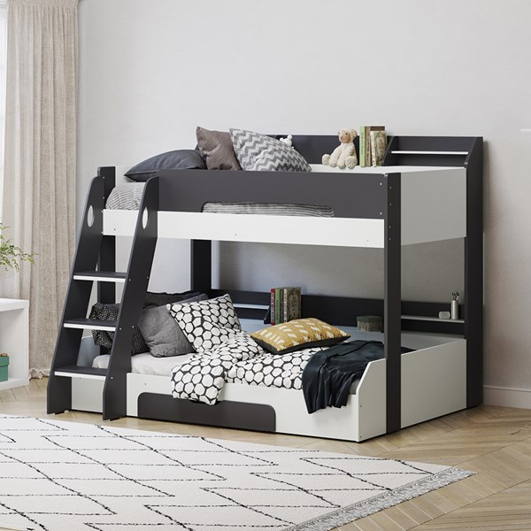 Flick Triple Bunk Bed in Grey by Flair Furnishings