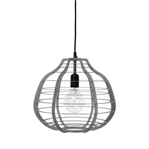 Large Industrial Metal Ceiling Light in Grey