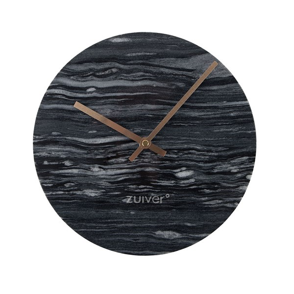 Marble Time Wall Clock in Grey