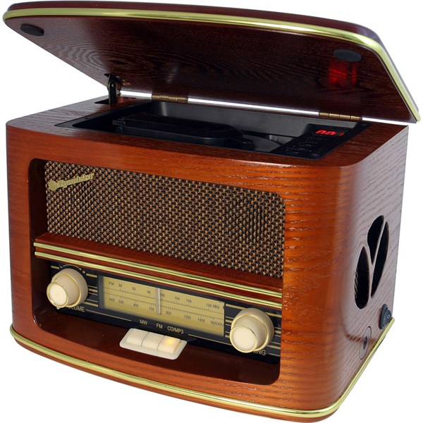 Retro Radio in Vintage Timber Design