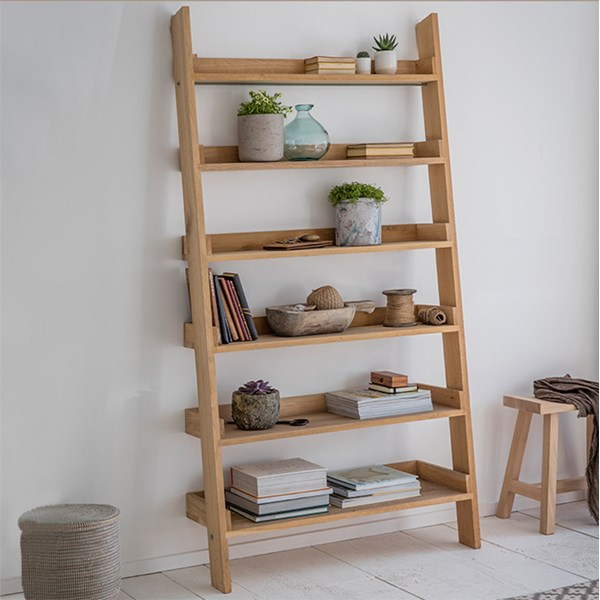 Garden Trading Hambledon Wide Oak Ladder Shelf