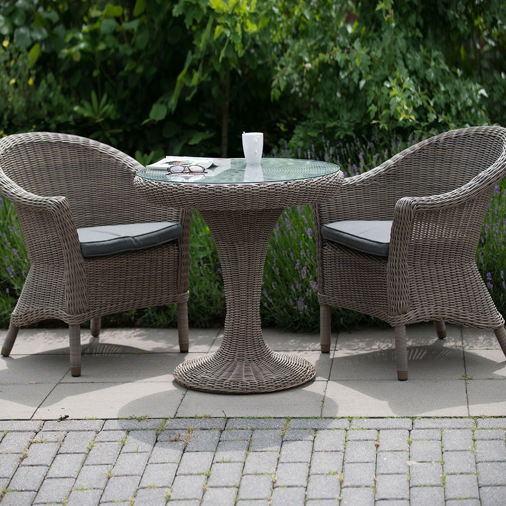 Chester Rattan Bistro Set In Pure By 4