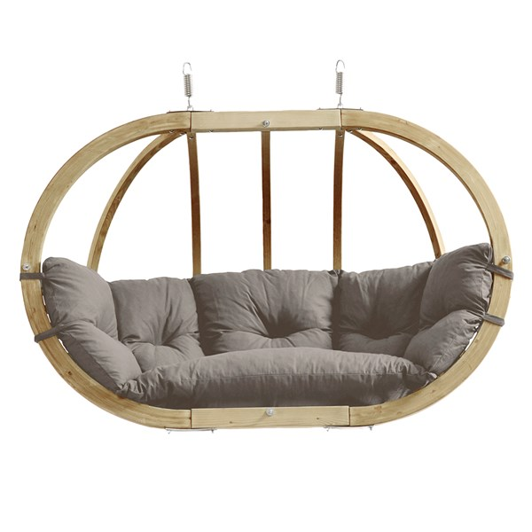 Globo Royal Hanging Chair in Weatherproof Taupe