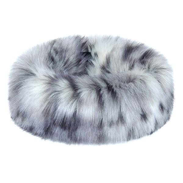 Ladies Arctic Leopard Grey Luxury Huff Hat