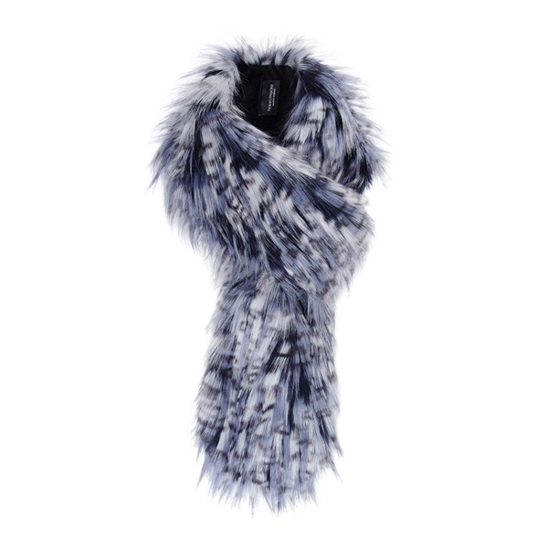 Helen Moore Faux Fur Loop Scarf in Denim