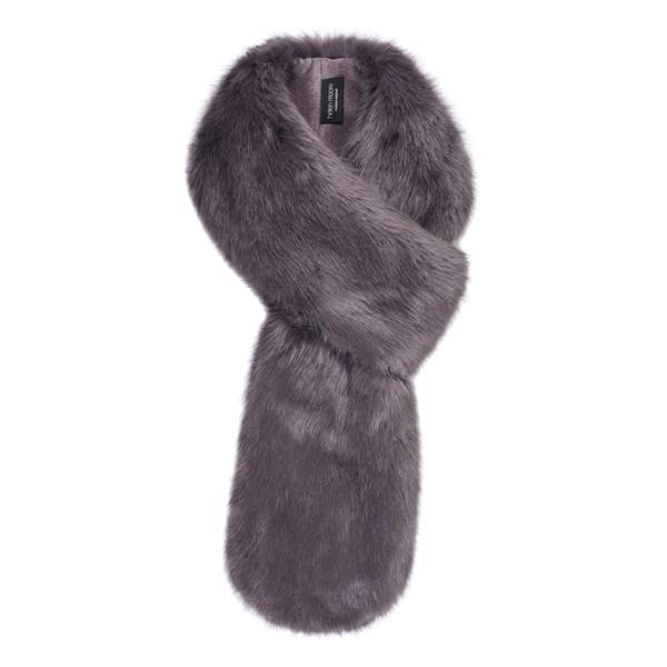 Helen Moore Faux Fur Loop Scarf in Steel
