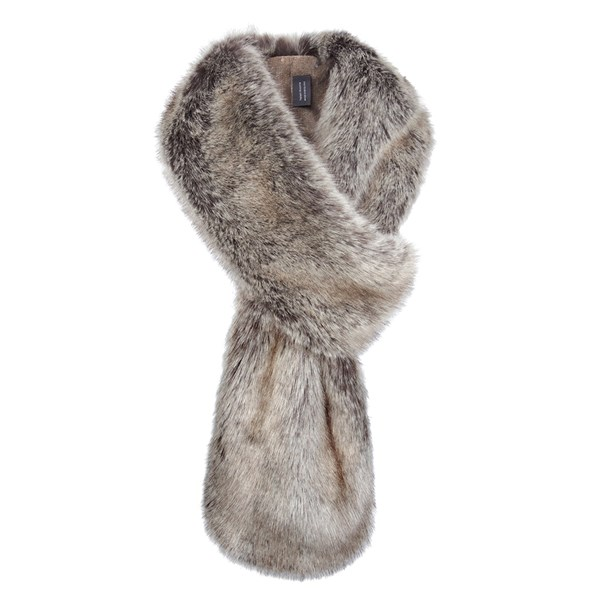 Helen Moore Faux Fur Loop Scarf in Truffle
