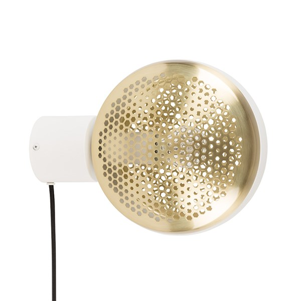 Zuiver Gringo Wall Light in White and Brass