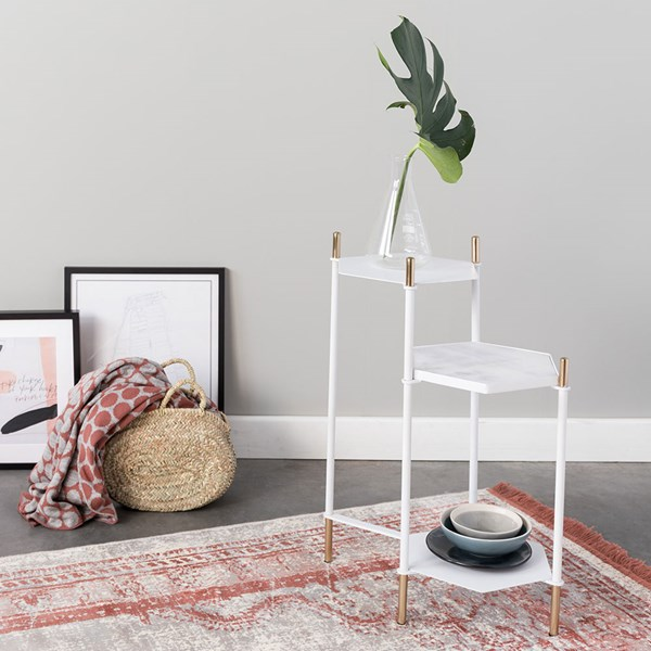 Zuiver Honeycomb Side Table in White