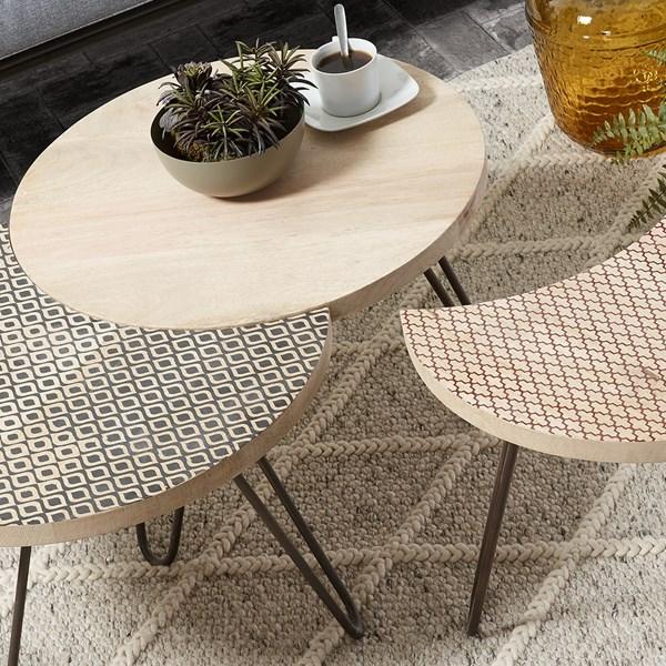 Hoss Set of 3 Mango Wood Coffee Tables by La Forma