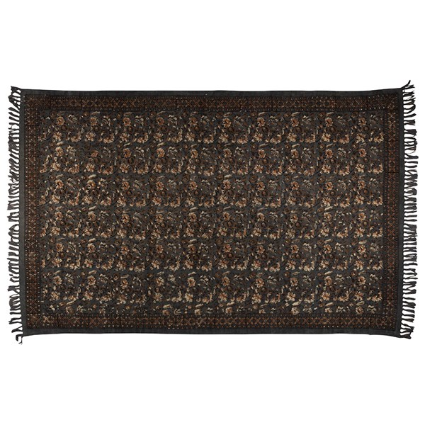 Dutchbone Indian Block Printed Rug in Grey