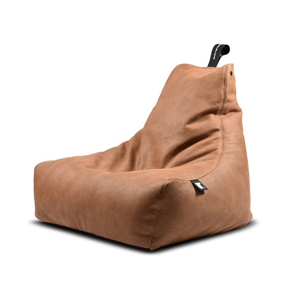Extreme Lounging Mighty B Luxury Indoor Bean Bag in Tan