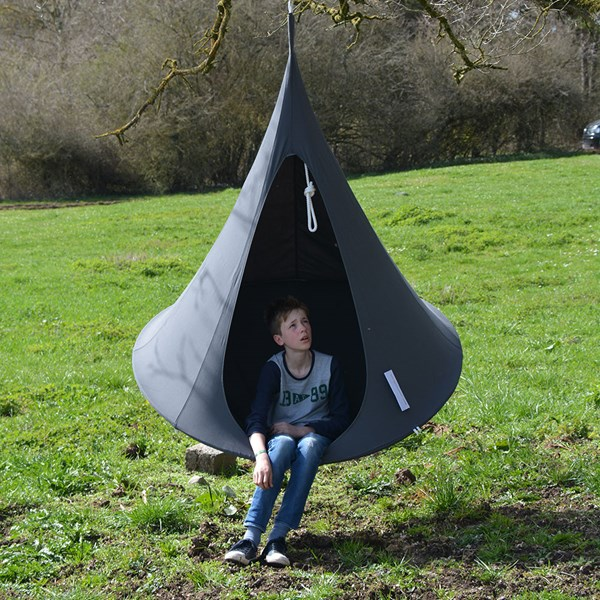 Single Hanging Cacoon in Anthracite