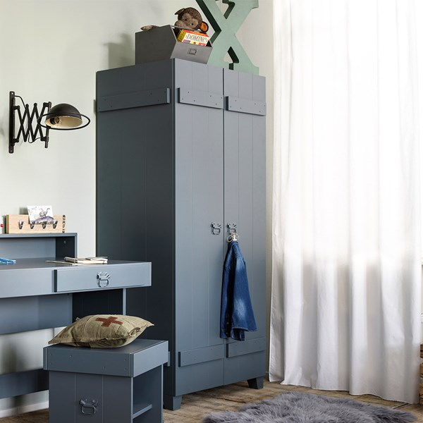 Stylish Contemporary Kids 2 Door Wardrobe